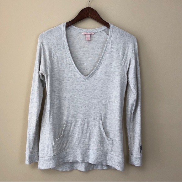 Victoria's Secret Tops - Victoria's Secret Gray Pullover With Front Pouch